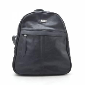Черный рюкзак с двумя отделениями и внешним карманом