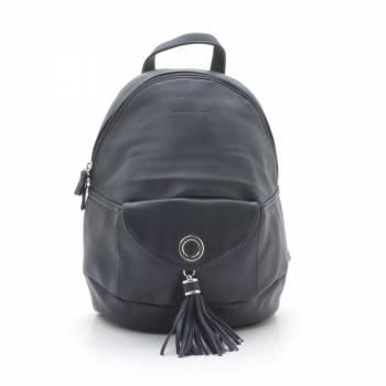 Стильный рюкзак чёрного цвета из кожзама