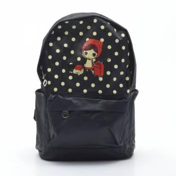 Черный рюкзак с одним отделением