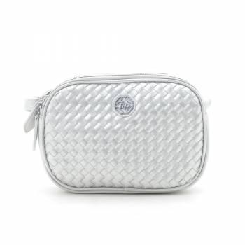 Клатч QN-1261 silvery белого цвета
