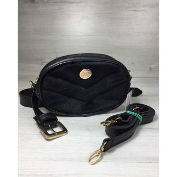 Черная сумка на пояс