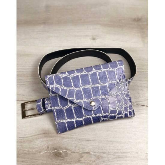 Женская сумка голубого цвета