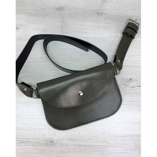 Женская сумка оливкового цвета