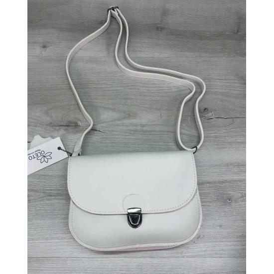 Бежевая сумочка на пояс