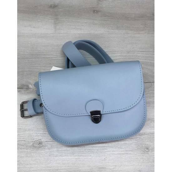 Голубая сумочка на пояс