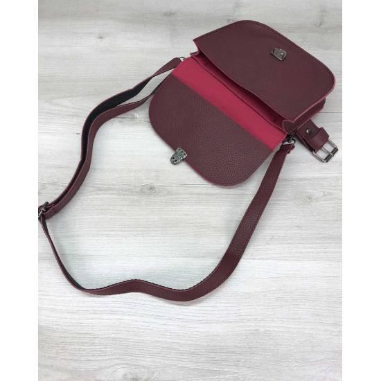 Бордовая сумочка на пояс