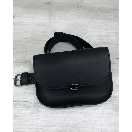 Черная сумочка на пояс