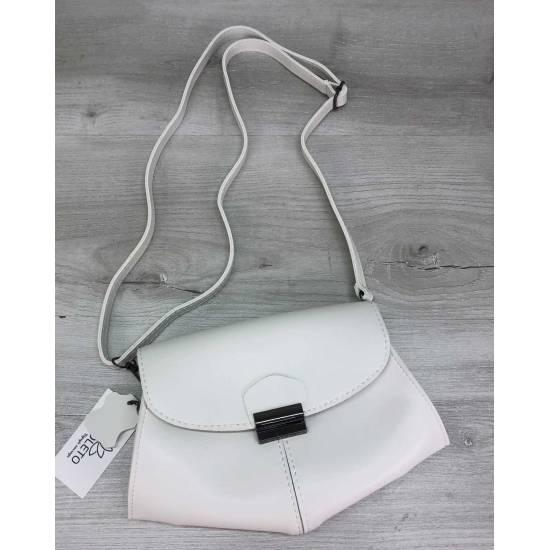 Белая сумочка клатч на пояс