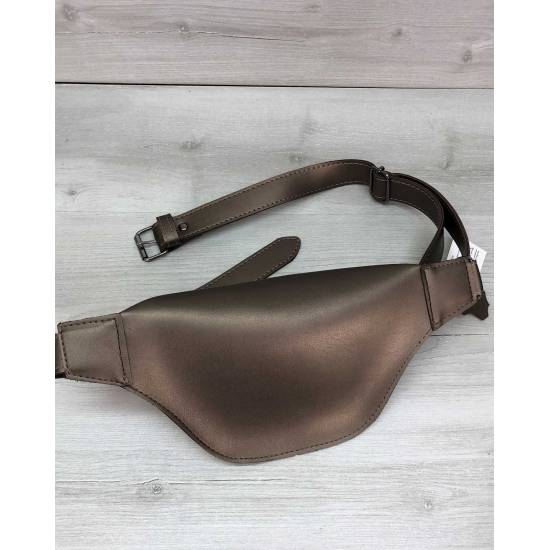 Женская сумочка бронзового цвета