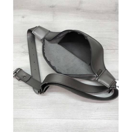 Женская сумочка серебряного цвета