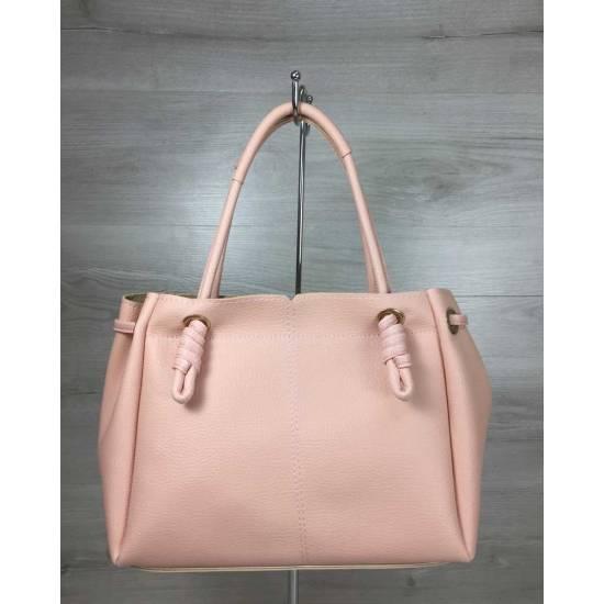 Стильная сумка-шоппер розового цвета