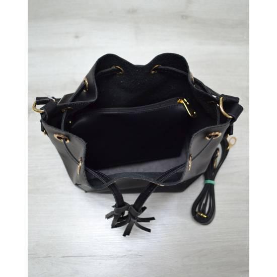 Черная сумочка с клатчем
