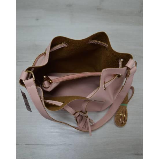 Розовая сумочка с клатчем