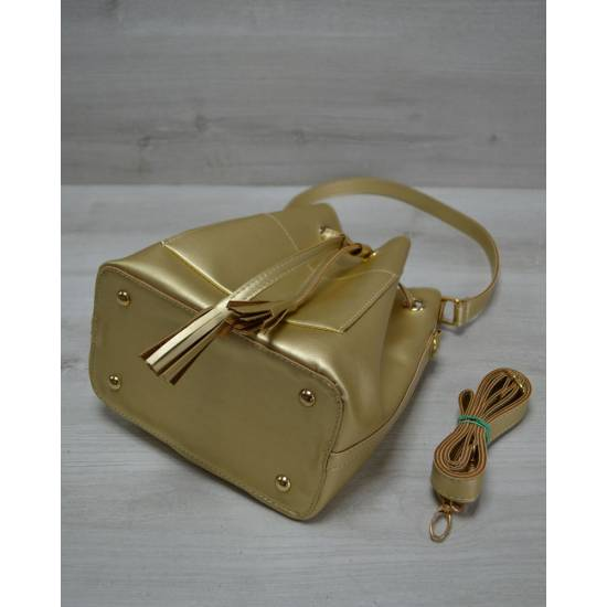 Золотистая сумочка с клатчем