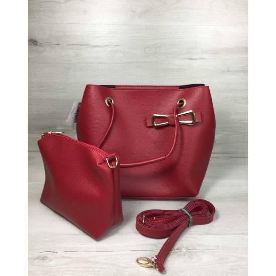 Красная сумочка с косметичкой