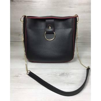 Стильная сумочка черного цвета